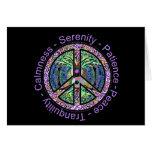 Peace Symbol with Peace, Harmony, Balance Card