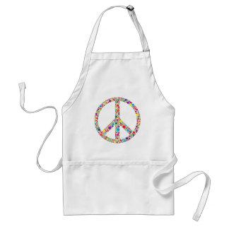 Peace Symbol with Polka Dots Illustration Adult Apron
