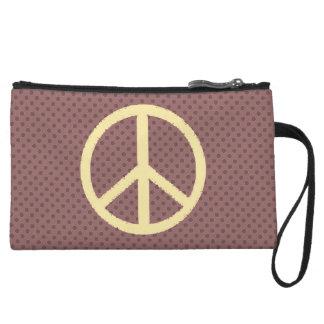 peace symbol wristlet