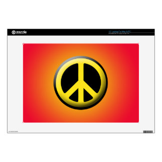 "Peace Symbol (Yellow) 15"" Laptop Skin"