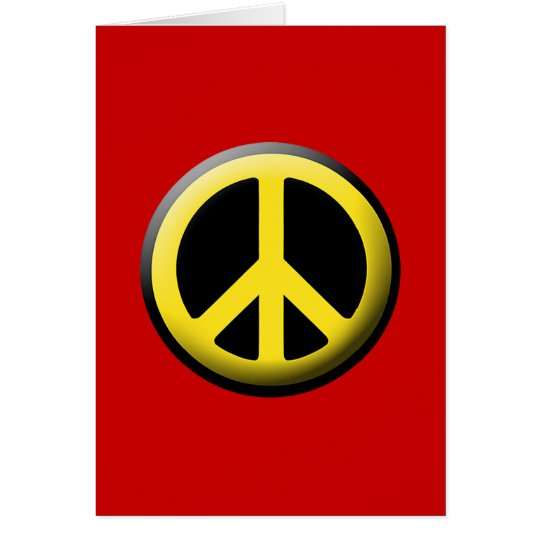 Peace Symbol (Yellow) Card