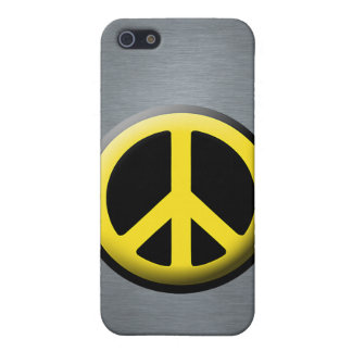 Peace Symbol (Yellow) Cases For iPhone 5