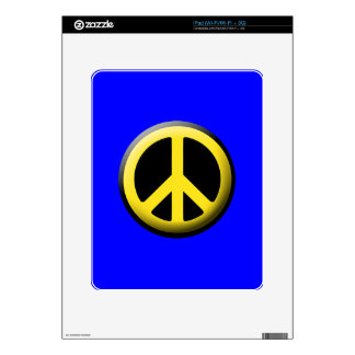 Peace Symbol (Yellow) Decal For iPad