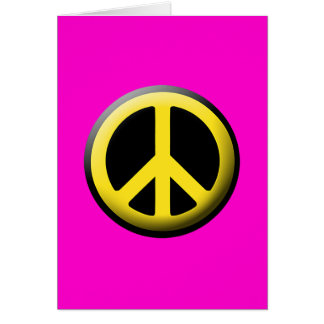 Peace Symbol (Yellow) Greeting Card