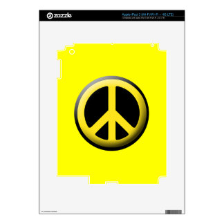 Peace Symbol (Yellow) iPad 3 Decals