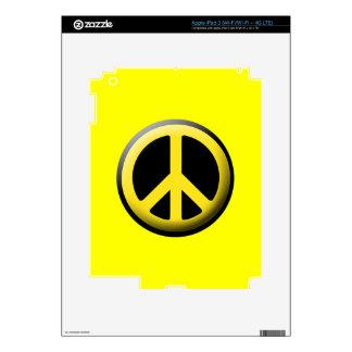 Peace Symbol (Yellow) iPad 3 Skin