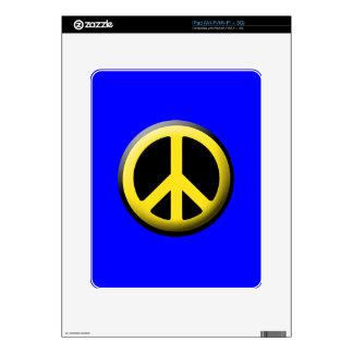 Peace Symbol (Yellow) iPad Skin
