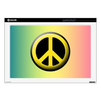 Peace Symbol (Yellow) Laptop Skins