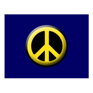 Peace Symbol (Yellow) Postcard