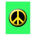Peace Symbol (Yellow) Postcard