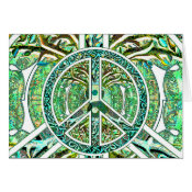 Peace Symbol, Yin Yang, Tree of Life in Green Card (<em>$3.15</em>)