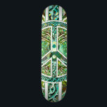 "Peace Symbol, Yin Yang, Tree of Life in Green Skateboard Deck<br><div class=""desc"">Peace Symbol,  Yin Yang,  Tree of Life in Green by Amelia Carrie</div>"