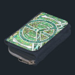"""Peace Symbol, Yin Yang, Tree of Life in Green Wallet<br><div class=""""desc"""">Peace Symbol,  Yin Yang,  Tree of Life in Green by Amelia Carrie</div>"""