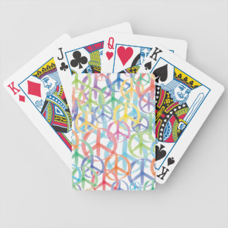 Peace Symbols Art Bicycle Playing Cards