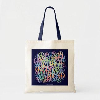 Peace Symbols Art Budget Tote Bag