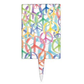 Peace Symbols Art Cake Toppers