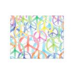 Peace Symbols Art Canvas Print