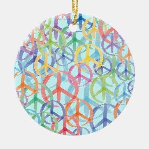 Peace Symbols Art Christmas Ornament