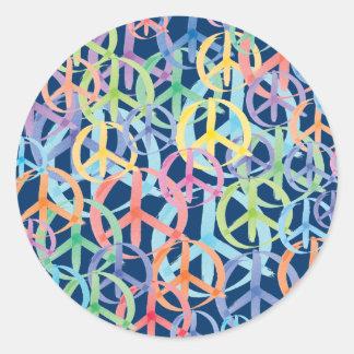 Peace Symbols Art Classic Round Sticker
