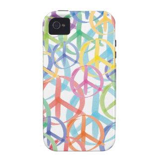 Peace Symbols Art iPhone 4 Case