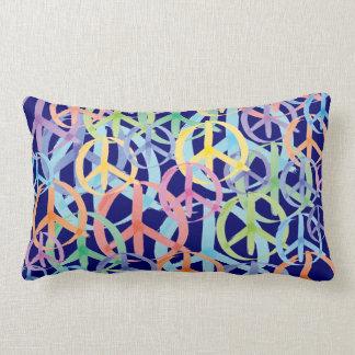 Peace Symbols Art Lumbar Pillow
