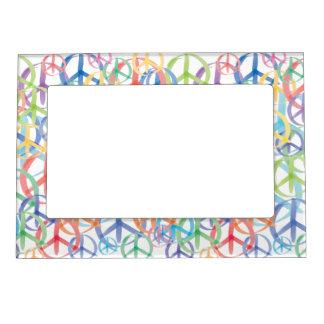 Peace Symbols Art Magnetic Picture Frames