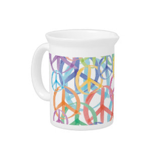 Peace Symbols Art Drink Pitcher