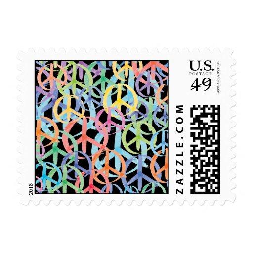 Peace Symbols Art Postage Stamps
