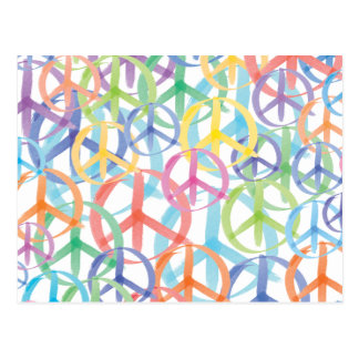 Peace Symbols Art Postcard