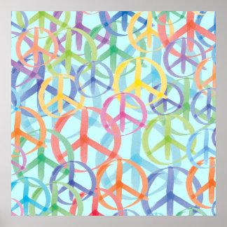 Peace Symbols Art Poster