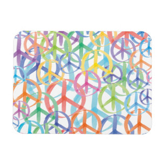 Peace Symbols Art Rectangular Photo Magnet