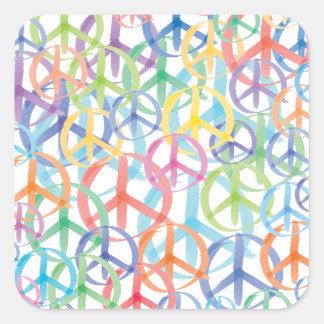 Peace Symbols Art Square Sticker