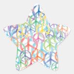 Peace Symbols Art Star Sticker