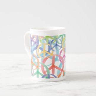 Peace Symbols Art Tea Cup