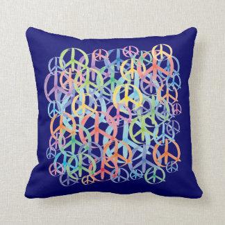 Peace Symbols Art Throw Pillow