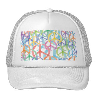 Peace Symbols Art Trucker Hat