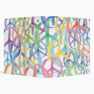 Peace Symbols Art Vinyl Binders