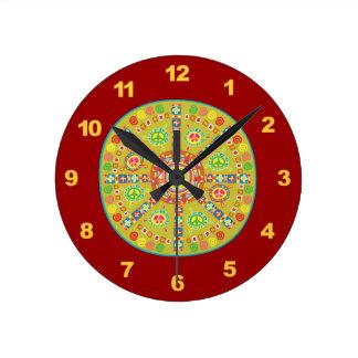 Peace Symbols Clocks