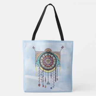 Peace Symbols Dangle Art Tote Bag