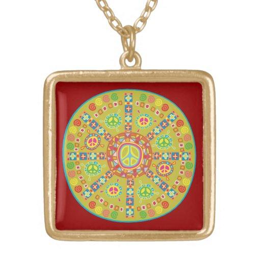 Peace Symbols Design Custom Necklace