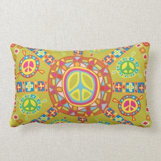 Peace Symbols Design Lumbar Pillow