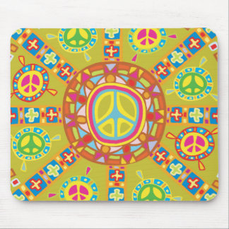 Peace Symbols Design Mouse Pad