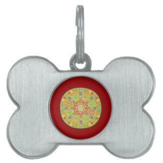 Peace Symbols Design Pet ID Tag