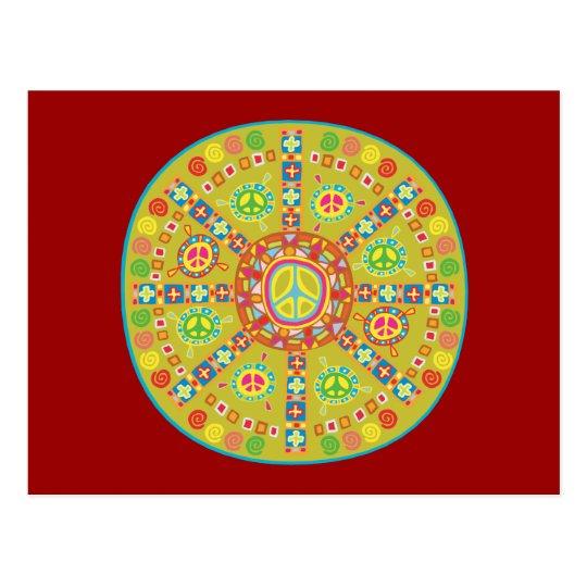 Peace Symbols Design Postcard