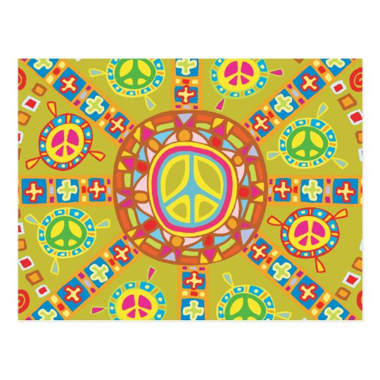 Peace Symbols Design Postcard