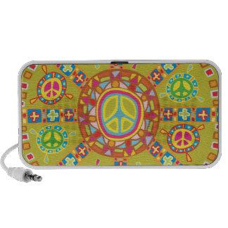 Peace Symbols Design Mp3 Speakers