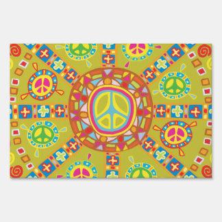 Peace Symbols Design Lawn Signs