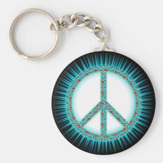 Peace Symbols Keychain
