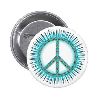 Peace Symbols Pinback Button
