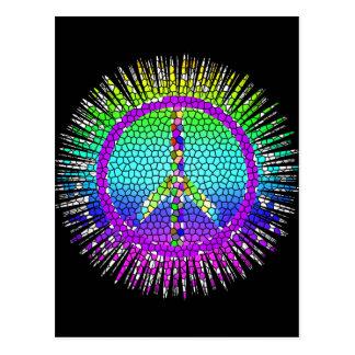 Peace Symbols Postcard